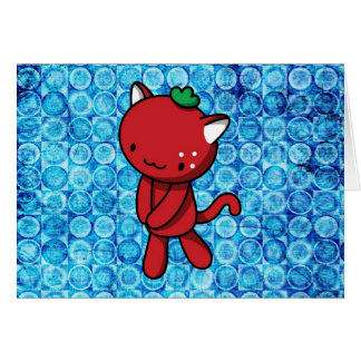 Strawberry Kitty Card