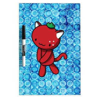 Strawberry Kitty Dry Erase White Board