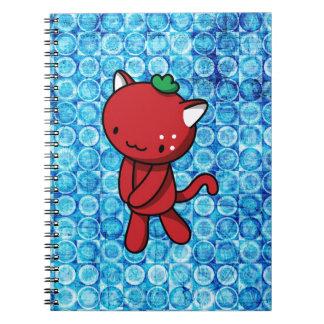 Strawberry Kitty Spiral Note Book