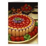 Strawberry lady finger cake greeting card