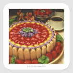 Strawberry lady finger cake stickers