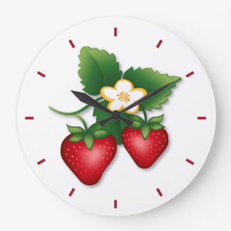 Strawberry Large Clock