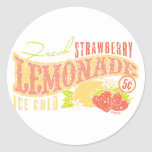 Strawberry Lemonade Classic Round Sticker