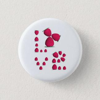 Strawberry Love Girl Button