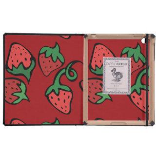 Strawberry Love iPad Case
