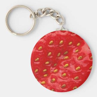 Strawberry Love Basic Round Button Keychain
