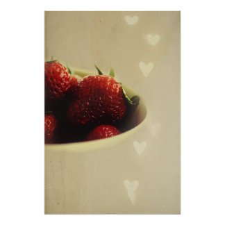 Strawberry love posters