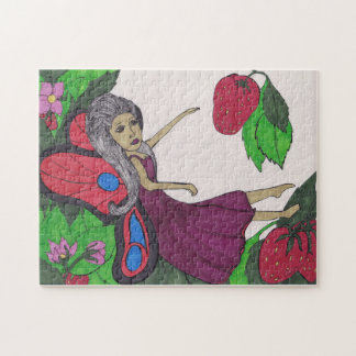 Strawberry-loving fairy jigsaw puzzle