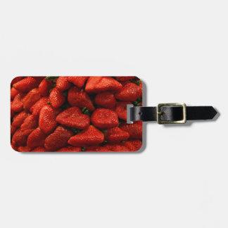 strawberry travel bag tag