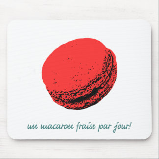 strawberry macaroon mouse pad