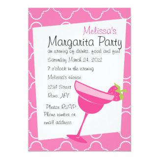 Strawberry Margarita Party 5x7 Paper Invitation Card