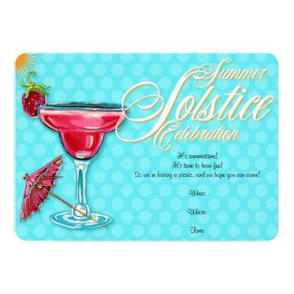 Strawberry Marguerita Summer Solstice Invitation