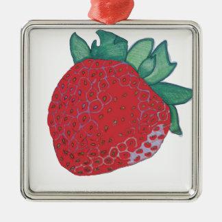 Strawberry Metal Ornament