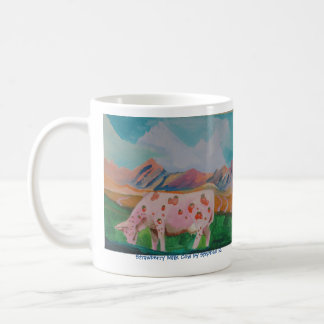 Strawberry Milk Cow by Stephen R. Classic White Coffee Mug