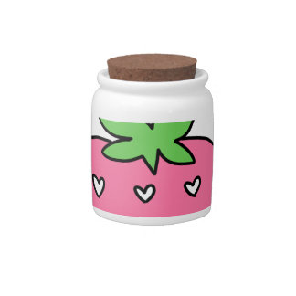 STRAWBERRY MILK, CUTE DESIGN, DOODLE CANDY JARS