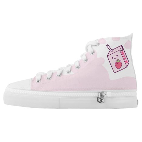 Strawberry Milk High-Top Sneakers