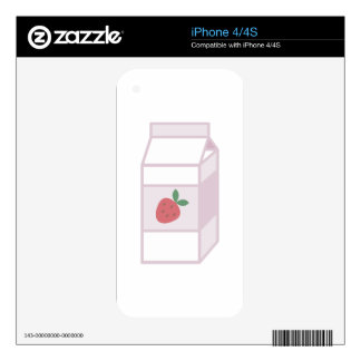 Strawberry Milk iPhone 4 Skins