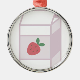 Strawberry Milk Metal Ornament