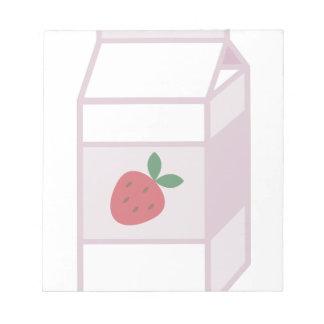 Strawberry Milk Notepad