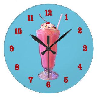 Strawberry Milkshake Round Wallclock