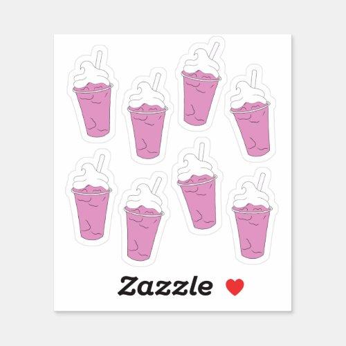 Strawberry Milkshake _ Stationary Sticker Sheet
