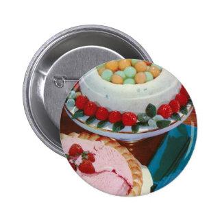 strawberry & mint 2 inch round button