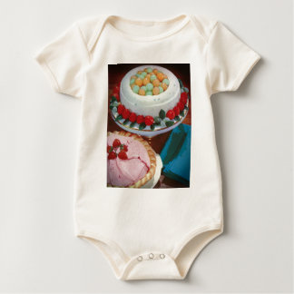 strawberry & mint baby bodysuits