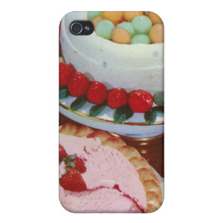 strawberry & mint cover for iPhone 4