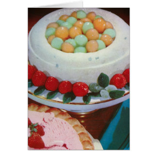 strawberry & mint greeting card