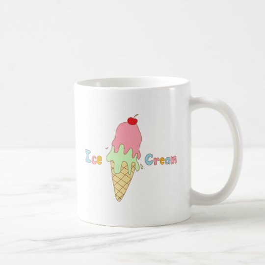 Strawberry Mint Ice Cream Cone Coffee Mug