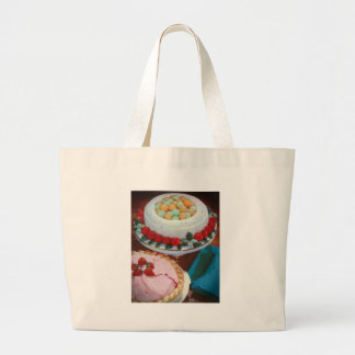 strawberry & mint jumbo tote bag