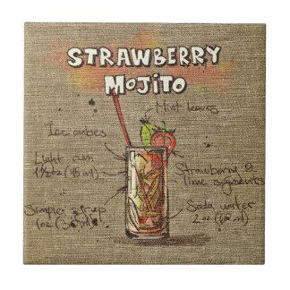 Strawberry Mojito recipe kitchen tile