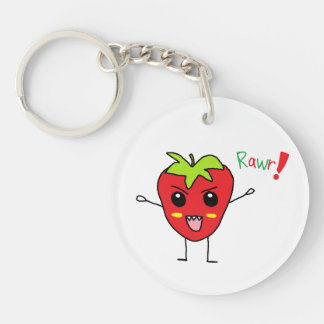 Strawberry Monster Keychain