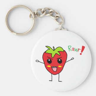 Strawberry Monster Key Chains