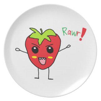 Strawberry Monster Dinner Plates