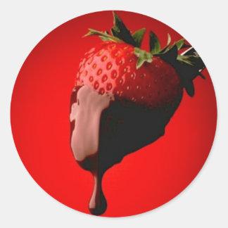 Strawberry Month Classic Round Sticker