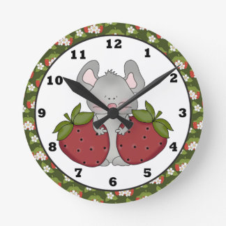 Strawberry Mouse kitchen clock