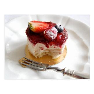Strawberry Mousse Petit Gateau Postcard