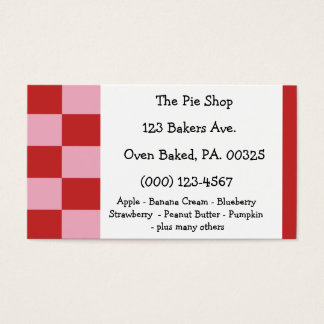 Strawberry Mousse Pie Colors Business Card