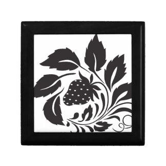 strawberry, nature, abstract, trees, foliage jewelry box