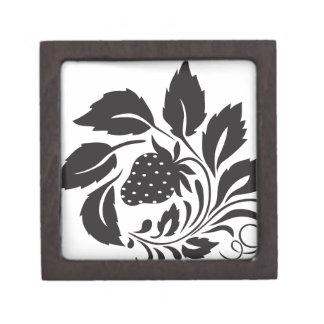 strawberry, nature, abstract, trees, foliage keepsake box