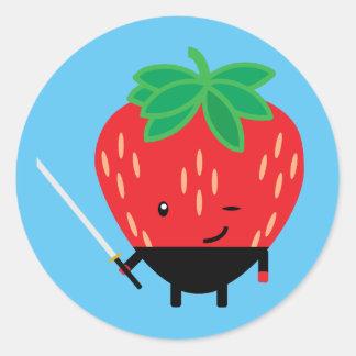 Strawberry-Ninja Classic Round Sticker