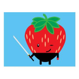 Strawberry-Ninja Postcard