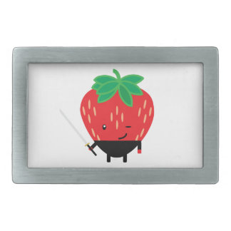 Strawberry-Ninja Rectangular Belt Buckle