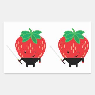 Strawberry-Ninja Rectangular Sticker