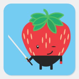 Strawberry-Ninja Square Sticker