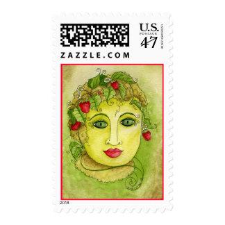 Strawberry Nymph Postage Stamp