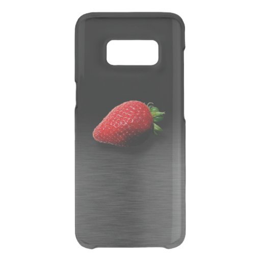Strawberry on Black & Silver Metallic Uncommon Samsung Galaxy S8 Case