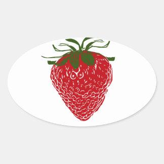 Strawberry: Oval Sticker