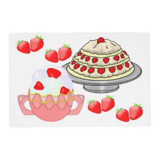 Strawberry Overdrive Placemat